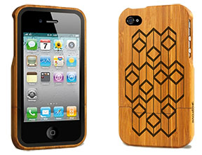 Laserpattern for Iphone and ipad bamboo covers by groove